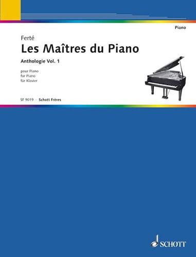 Les Maîtres Du Piano Volume 1 - Armand Ferté - laflutedepan.com