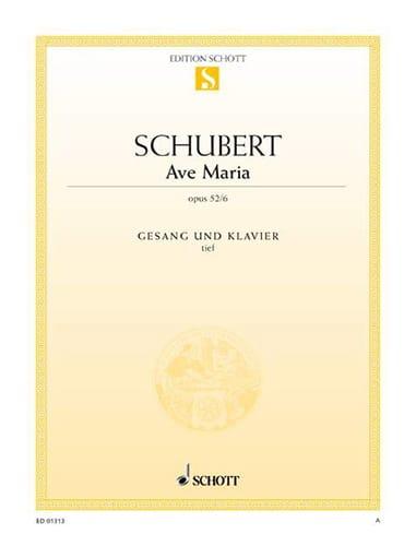 SCHUBERT - Ave Maria. Opus 52-6. Voix Grave - Partition - di-arezzo.fr