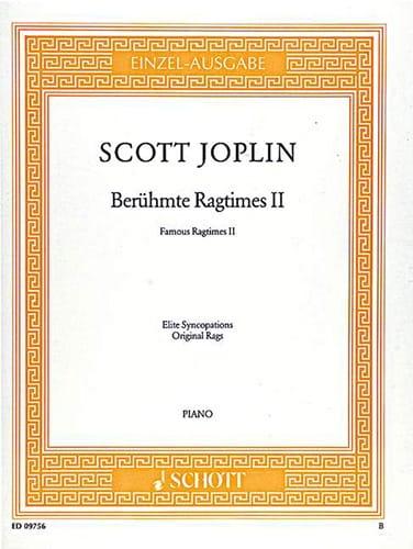 Scott Joplin - Berühmte Ragtimes II - Partition - di-arezzo.co.uk
