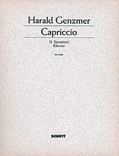 Capriccio 1950 - Harald Genzmer - Partition - Piano - laflutedepan.com