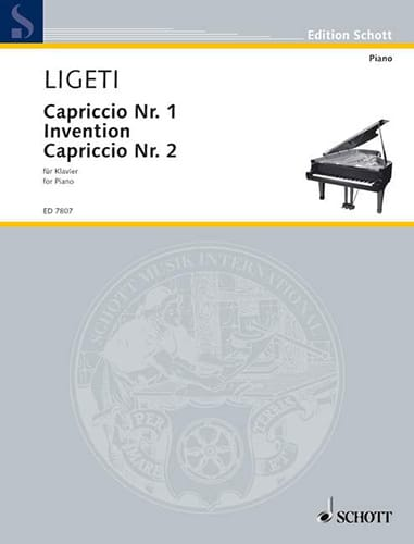György Ligeti - Capriccio No. 1. Invention. Capriccio N ° 2 - Partition - di-arezzo.co.uk