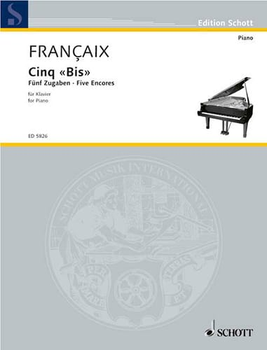 Jean Françaix - Five bis 1965 - Partition - di-arezzo.com