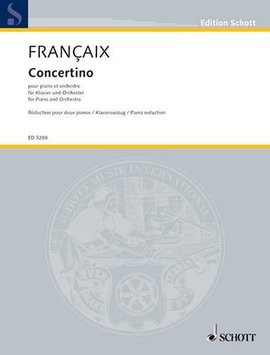 Concertino 1932 2 Pianos - FRANÇAIX - Partition - laflutedepan.com