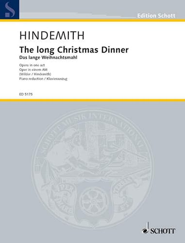 Paul Hindemith - The Long Christmas Dinner - Partition - di-arezzo.co.uk