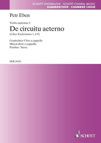 Petr Eben - De Circuitu Aeterno Choeur Mxt A Cap - Partition - di-arezzo.fr