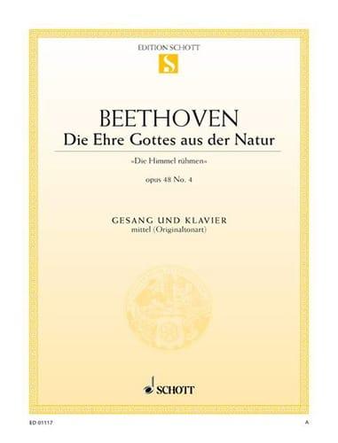 Die Ehre Gottes Aus Der Natur C-Dur, Op. 48-4 - laflutedepan.com