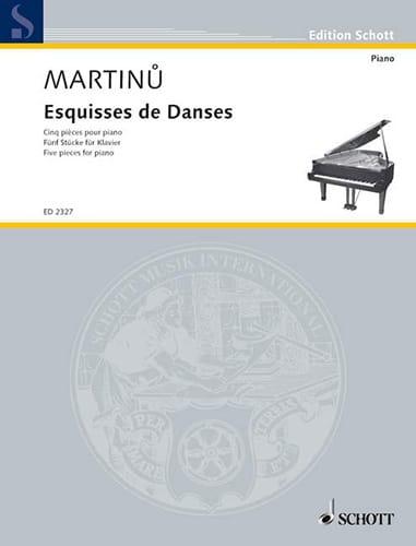 Bohuslav Martinu - Sketches of Dances - Partition - di-arezzo.co.uk