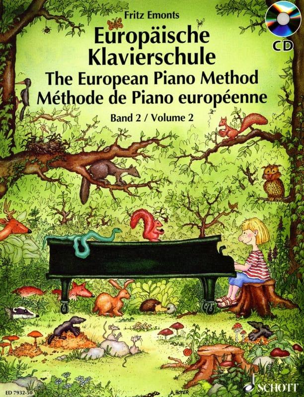 Fritz Emonts - European Piano Method Volume 2 - Partition - di-arezzo.co.uk