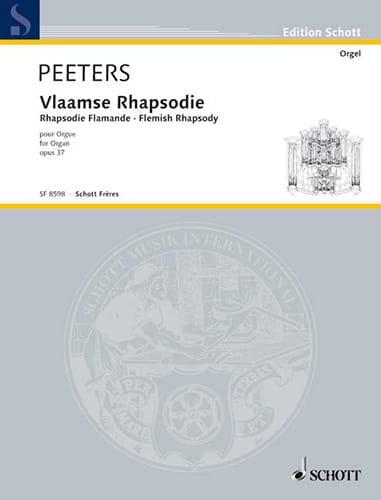 Flor Peeters - Rhapsodie Flamande Op. 37 - Partition - di-arezzo.fr