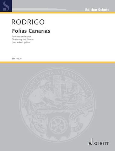 Folias Canarias - RODRIGO - Partition - Guitare - laflutedepan.com