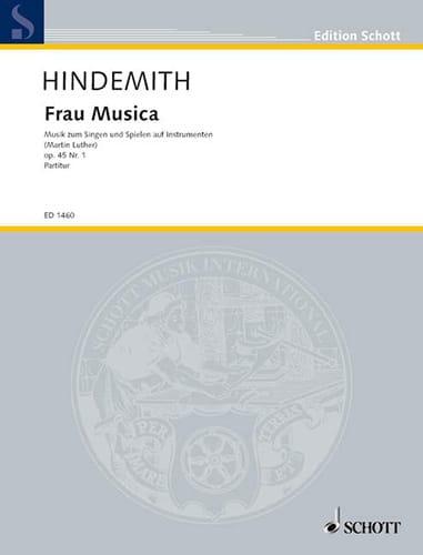 Frau Musica Op. 45 N° 1 - HINDEMITH - Partition - laflutedepan.com