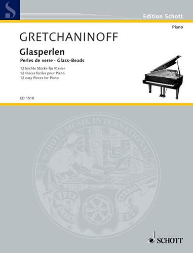 Alexander Gretchaninov - Glasperlen Op. 123 - Partition - di-arezzo.co.uk