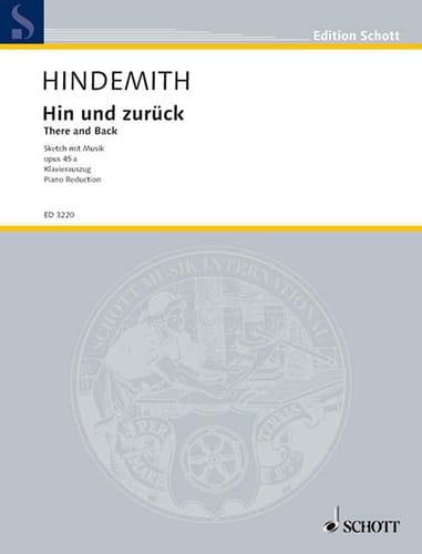 Paul Hindemith - Hin und Zurück - Partition - di-arezzo.co.uk