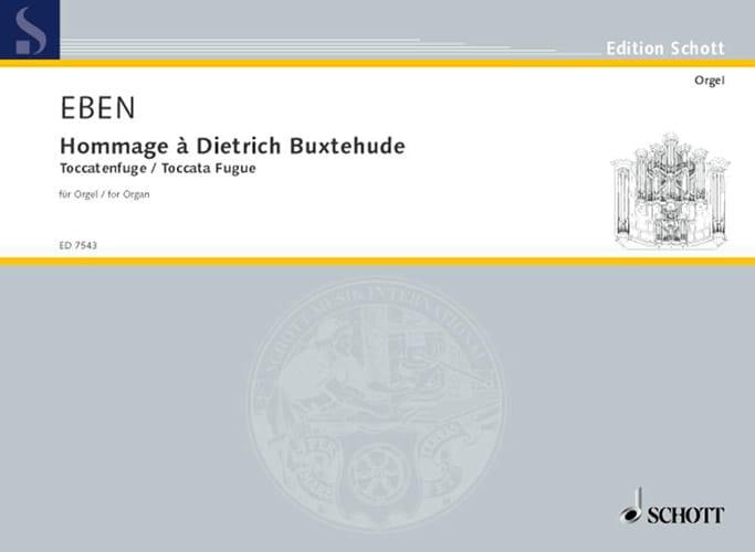 Petr Eben - Tribute to Dietrich Buxtehude 1987 - Partition - di-arezzo.co.uk