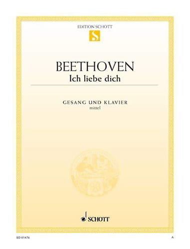 BEETHOVEN - Ich Liebe Dich Woo 123. Mean Voice - Partition - di-arezzo.co.uk