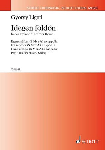 György Ligeti - Idegen földön - Partition - di-arezzo.fr
