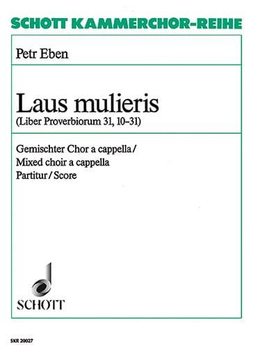 Petr Eben - Laus Mulieris - Partition - di-arezzo.fr