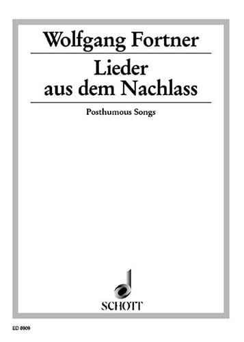 Lieder aus dem Nachlass - Wolfgang Fortner - laflutedepan.com