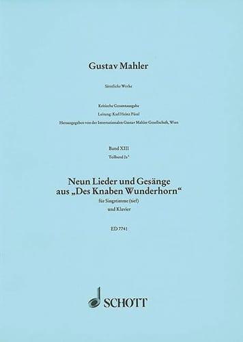 9 Lieder Und Gesänge Aus des Knaben Wunderhorn - laflutedepan.com