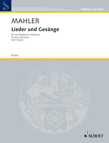Lieder Und Gesänge Volume 1 Voix Haute - MAHLER - laflutedepan.com