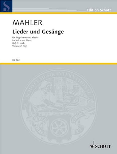 Gustav Mahler - Lieder Und Gesänge Volume 3. High Voice - Partition - di-arezzo.com