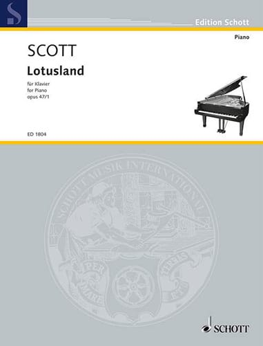 Lotusland, Op. 47-1 - Cyril Scott - Partition - laflutedepan.com