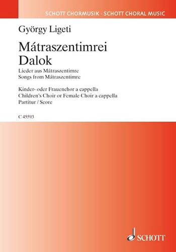 György Ligeti - Mátraszentimrei Dalok - Partition - di-arezzo.fr