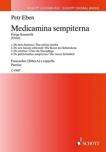 Petr Eben - Medicamina sempiterna - Ewige Kosmetik - Partition - di-arezzo.fr