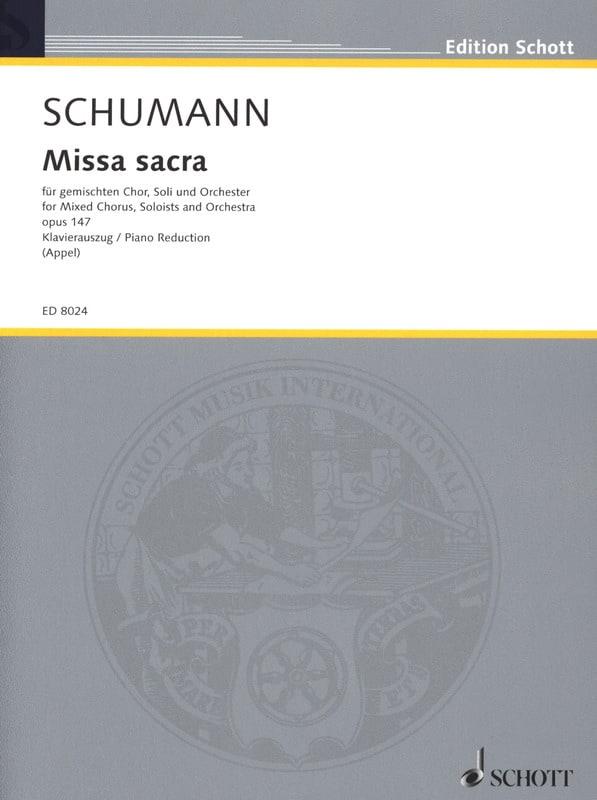 Missa Sacra, op. 147 - SCHUMANN - Partition - Chœur - laflutedepan.com