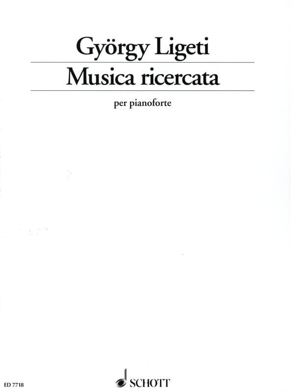 György Ligeti - Musica Ricercata 1951-1953 - Partition - di-arezzo.co.uk