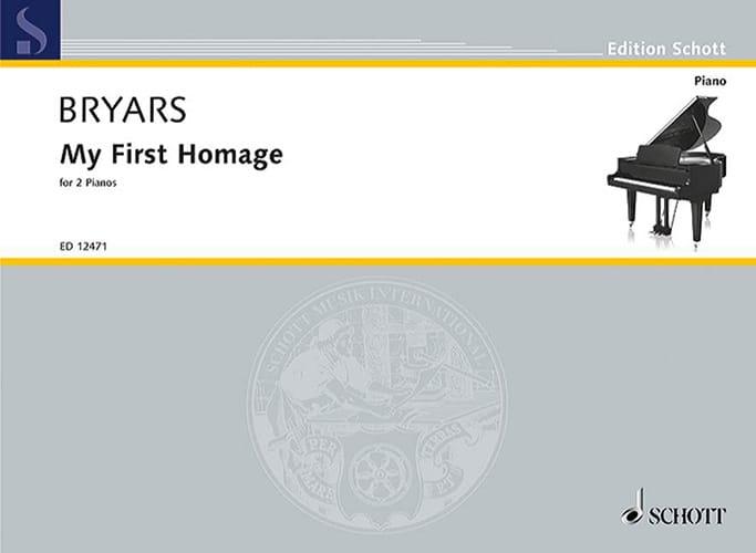My 1st Homage. 2 Pianos - Gavin Bryars - Partition - laflutedepan.com