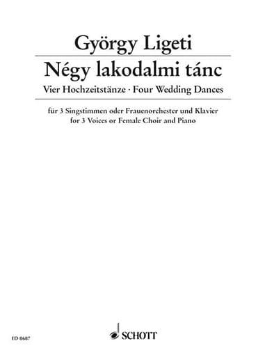 György Ligeti - Négy Lakodalmi Tánc - Partition - di-arezzo.fr