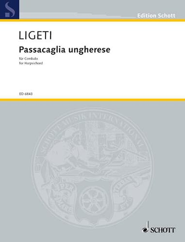 Passacaglia ungherese (1978) - LIGETI - Partition - laflutedepan.com