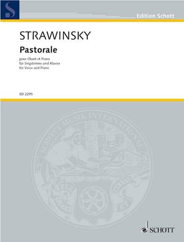 Pastorale - STRAVINSKY - Partition - Pédagogie - laflutedepan.com