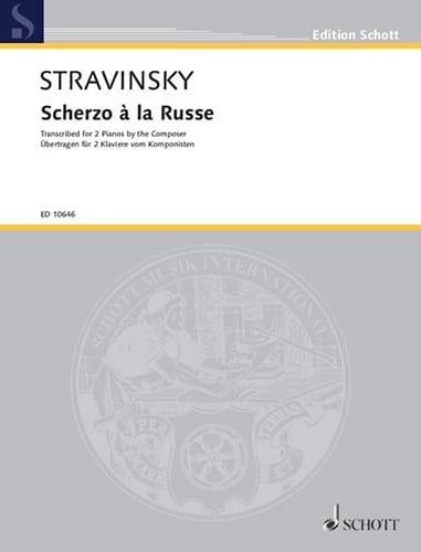 Scherzo A la Russe. 2 Pianos - STRAVINSKY - laflutedepan.com