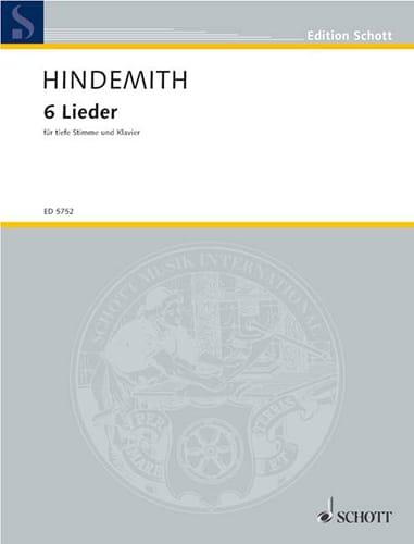 6 Lieder D'aprés Hölderlin Voix Grave - HINDEMITH - laflutedepan.com