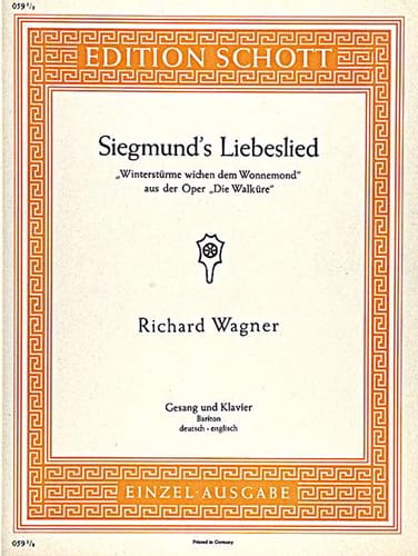 Richard Wagner - Siegmund's Liebeslied. Walküre - Partition - di-arezzo.com