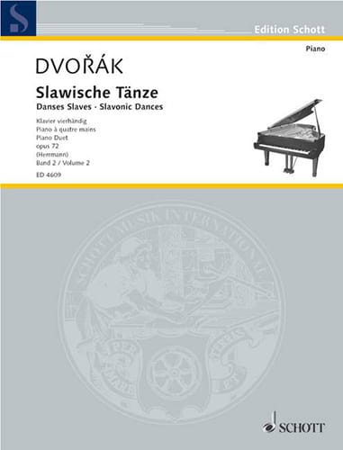 DVORAK - Slaves Dances 4 Hands Opus 72 Volume 2 - Partition - di-arezzo.es