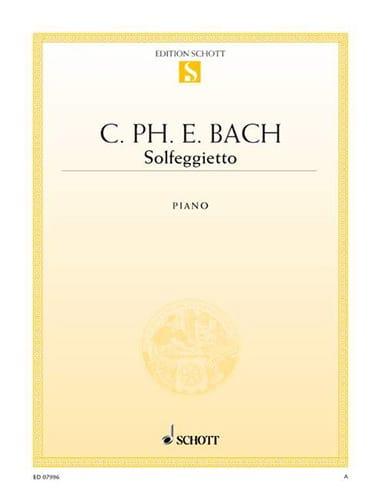 Carl-Philipp Emanuel Bach - Solfeggietto - Partition - di-arezzo.com