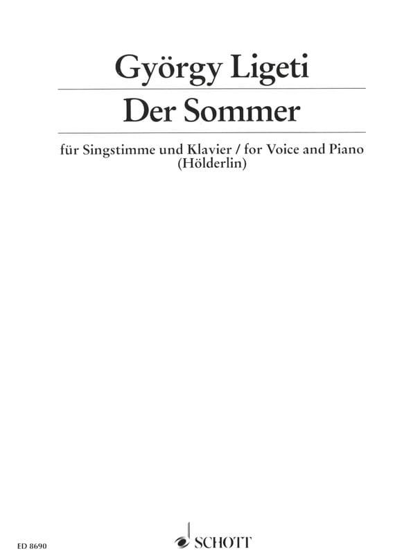 Der Sommer - LIGETI - Partition - Mélodies - laflutedepan.com