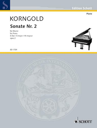 Sonate E-Dur Op. 2-2 - KORNGOLD - Partition - Piano - laflutedepan.com