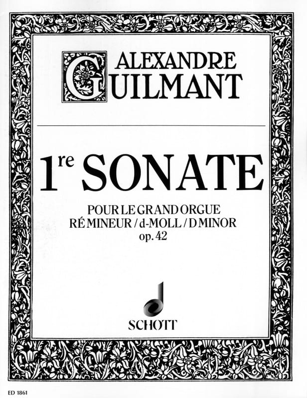 Sonate N° 1 Ré Mineur Opus 42 - Alexandre Guilmant - laflutedepan.be