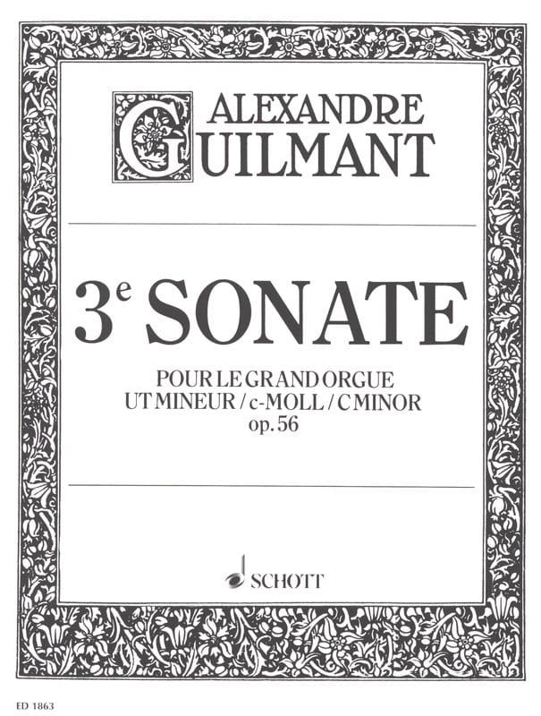 Alexandre Guilmant - Sonata N ° 3 Minor Opus 56 - Partition - di-arezzo.co.uk