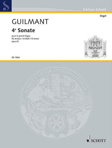 Sonate N° 4 Ré Mineur Opus 61 - Alexandre Guilmant - laflutedepan.com