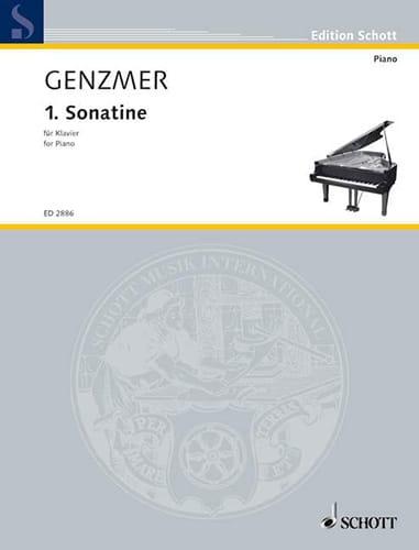 Sonatine N°1 1940 - Harald Genzmer - Partition - laflutedepan.com