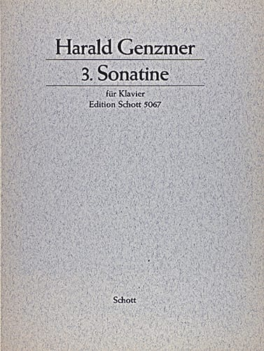 Sonatine N°3 1959 - Harald Genzmer - Partition - laflutedepan.com