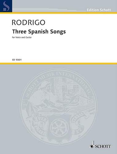 3 Spanish Songs 1951 - RODRIGO - Partition - laflutedepan.com