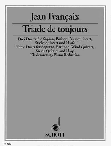 Triade de Toujours - FRANÇAIX - Partition - Duos - laflutedepan.com
