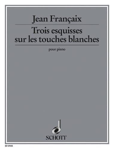 3 Esquisses sur les Touches Blanches, de Difficulté Progressive - laflutedepan.com