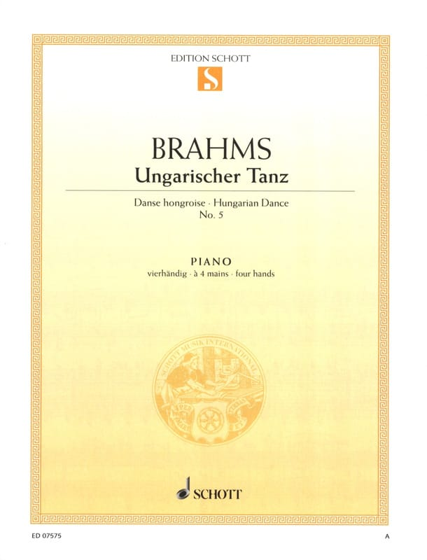 BRAHMS - Hungarian Dance No. 5. 4 Hands - Partition - di-arezzo.co.uk